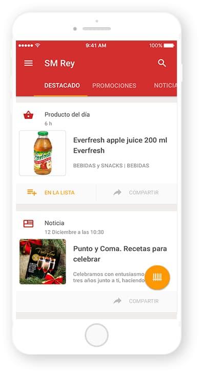 Supermercados Rey, app desarrollada por Cuatroochenta