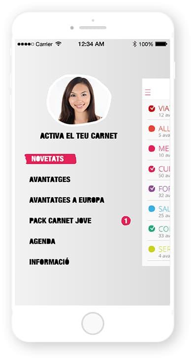 App Carnet Jove Andorra, desarrollada por Cuatroochenta