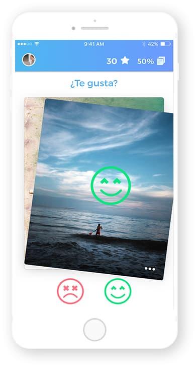 Pantalla app Rated, desarrollada por Cuatroochenta