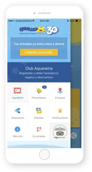 App de Aquarama desarrollada por Cuatroochenta