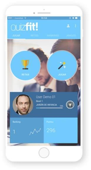 App Quizfit desarrollada por Cuatroochenta