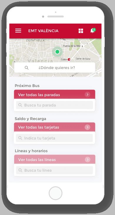 App EMT Valencia developed by Cuatroochenta - 480