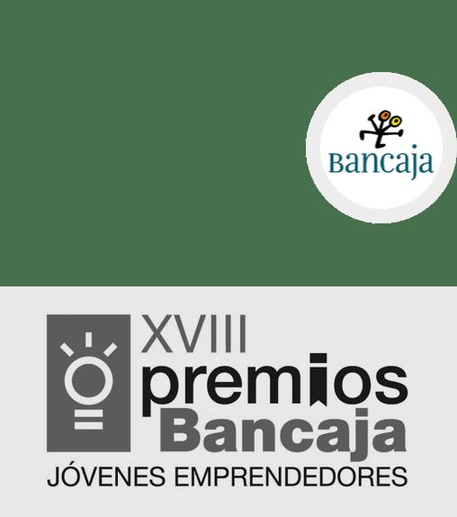 <p><strong>XVIII Premio Bancaja Jóvenes Emprendedores</strong></p> <p>Bancaja</p> <p><strong>2012</strong></p>