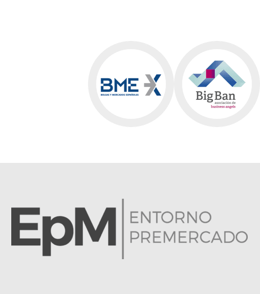 <p><strong>Selected for the first Pre-Market Environment</strong></p> <p>Bolsas y Mercados Españoles (BME) (manager of all the Spanish markets) and Spain's National Business Angels Association Big Ban Angels</p> <p><strong>2017</strong></p>