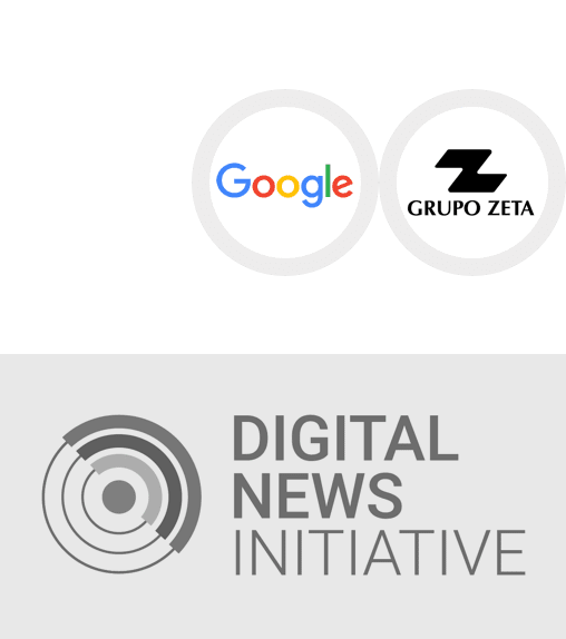 <p><strong>Premio del programa europeo Digital News Initiative (DNI)</strong></p> <p>Google con el Grupo Zeta</p> <p><strong>2017</strong></p>