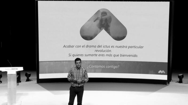 Óscar Lozano, CEO de Rithmi, en los premios de la Fundación Mapfre