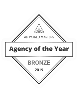 <p><strong>Top 20 en España. Agency of the year</strong></p> <p>Ad World Masters</p> <p><strong>2020</strong></p>
