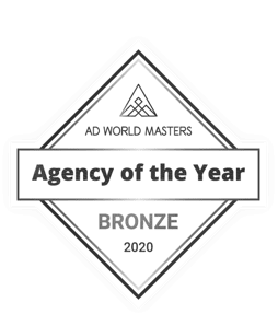 <p><strong>Top 20 en España. Agency of the year</strong></p> <p>Ad World Masters</p> <p><strong>2021</strong></p>